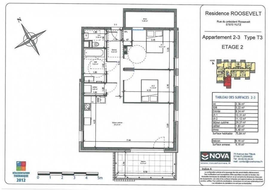 acheter appartement 3 pièces 75.84 m² yutz photo 2