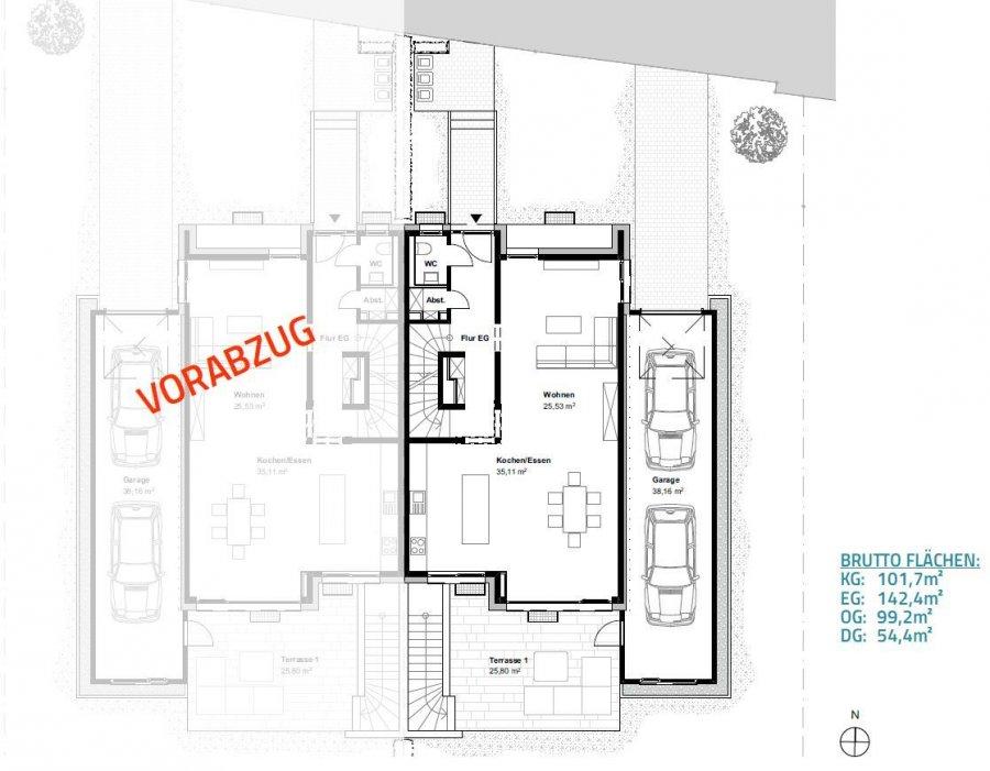 acheter maison jumelée 4 chambres 201.36 m² leudelange photo 4