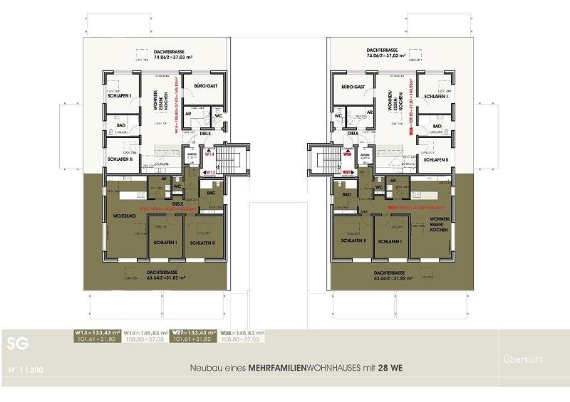 penthouse-wohnung mieten 4 zimmer 133.43 m² perl foto 3