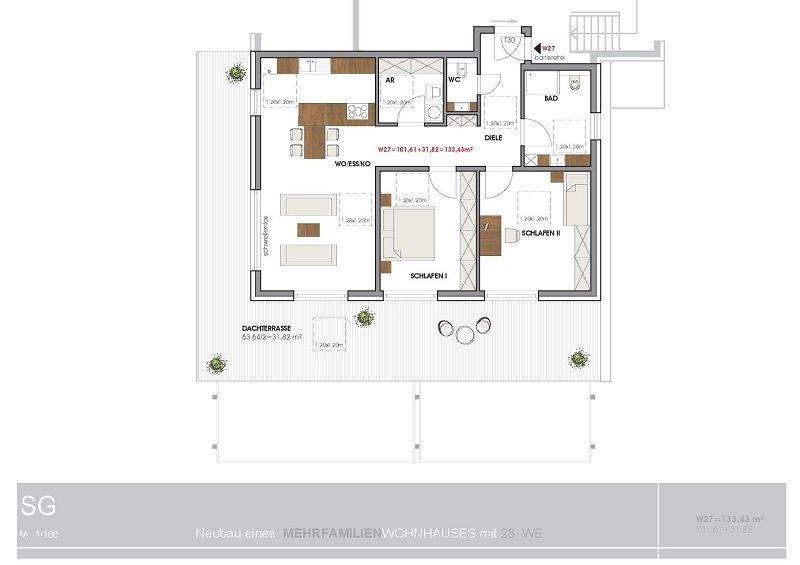 penthouse-wohnung mieten 4 zimmer 133.43 m² perl foto 5