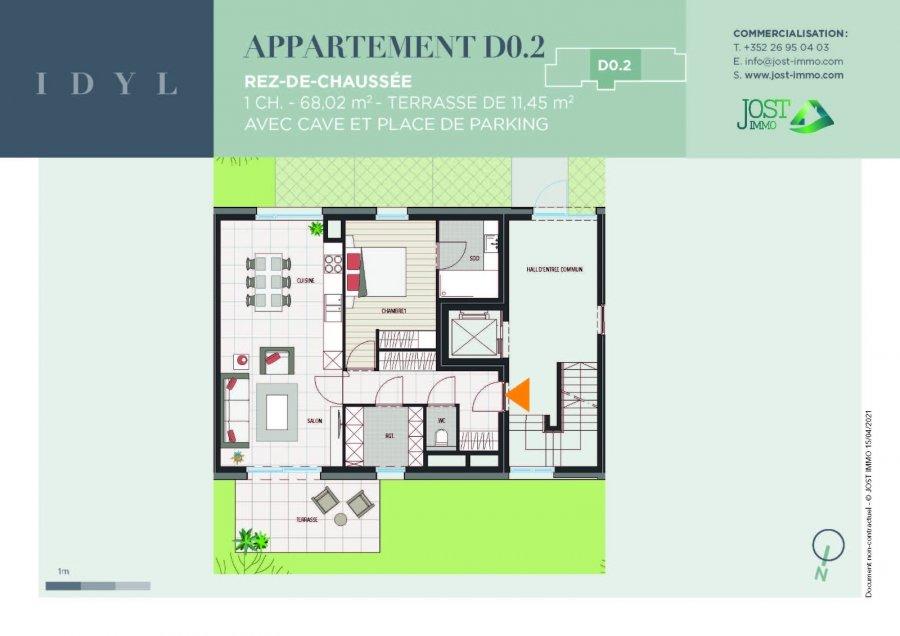 acheter appartement 1 chambre 68.02 m² petit-nobressart photo 2