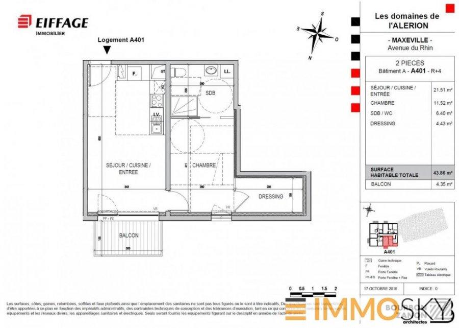 Appartement à vendre F2 à Maxéville