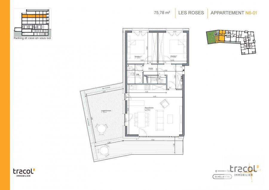 acheter appartement 2 chambres 75.78 m² niederkorn photo 2