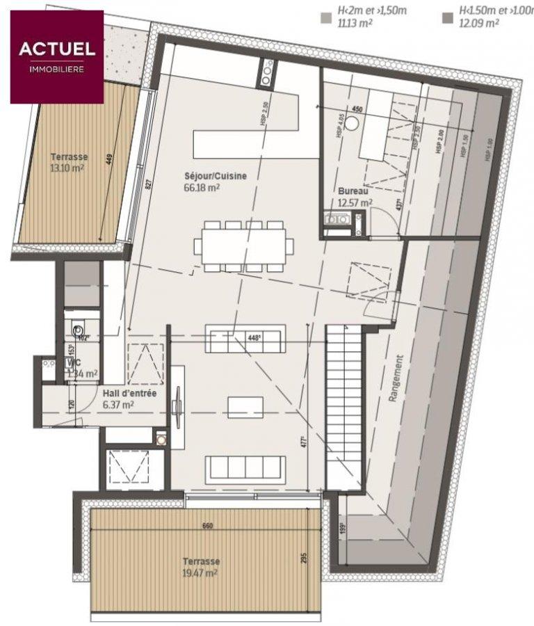 acheter duplex 3 chambres 186.5 m² bivange photo 3