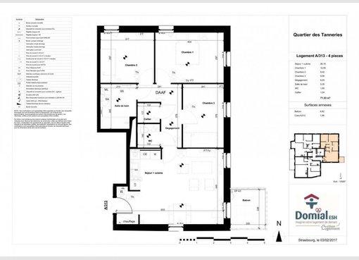 Vente appartement f4 lingolsheim bas rhin r f 5367151 for Location garage lingolsheim