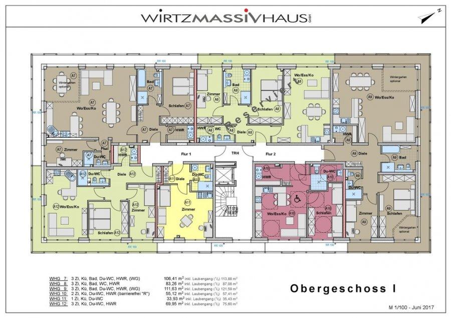 wohnung kaufen 3 zimmer 111.63 m² trier foto 2