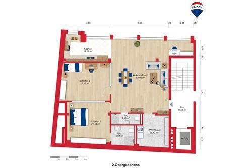 wohnung mieten 3 zimmer 132 m² saarbrücken foto 3