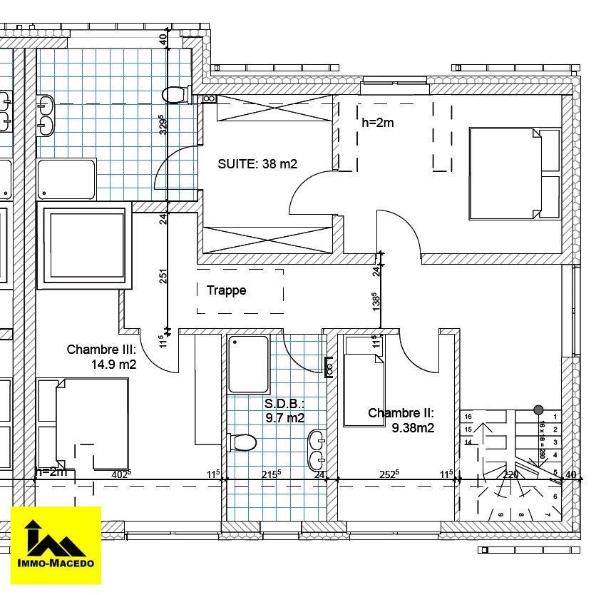 acheter maison jumelée 4 chambres 240 m² useldange photo 6