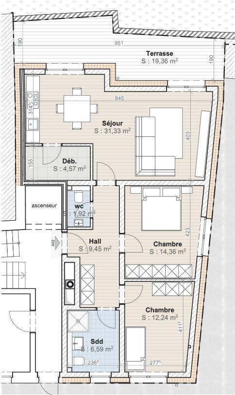 acheter appartement 2 chambres 92 m² diekirch photo 3