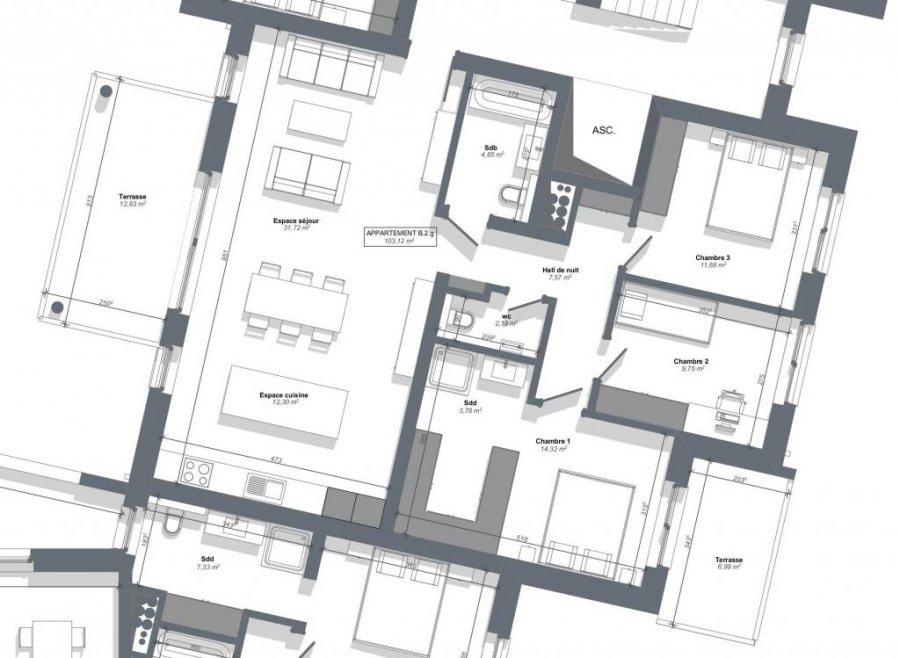 acheter appartement 3 chambres 105 m² eschweiler photo 2