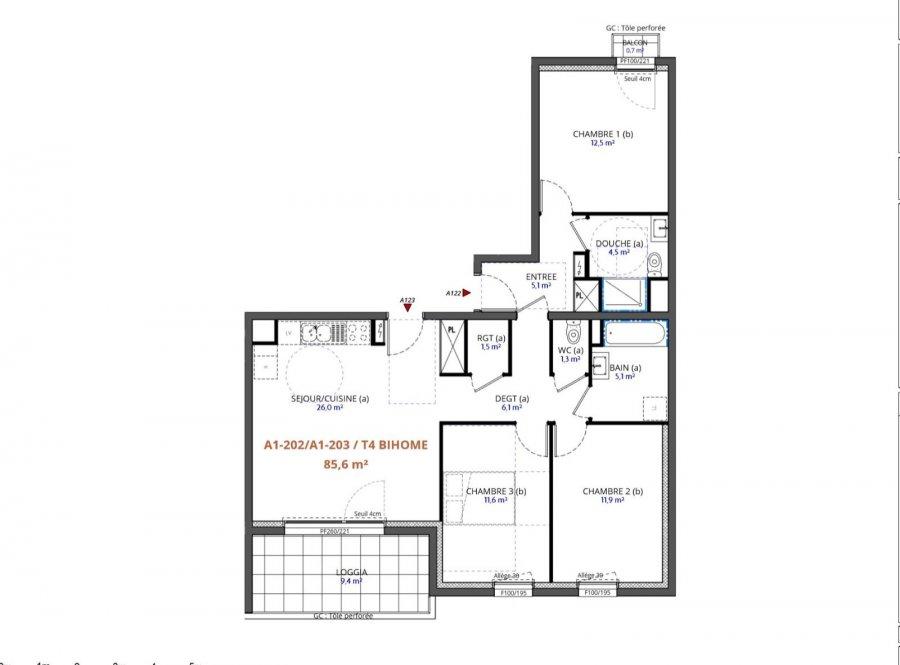 acheter appartement 4 pièces 85.6 m² metz photo 3
