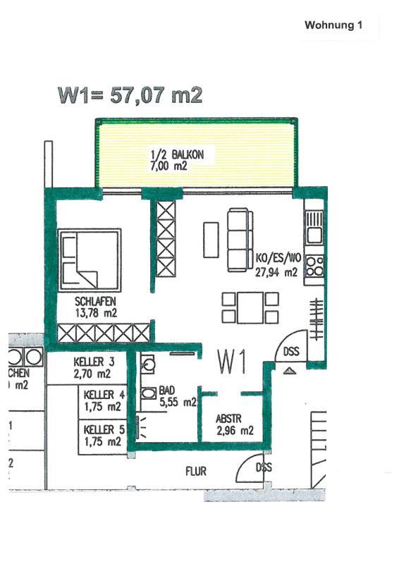 wohnung kaufen 2 zimmer 57.07 m² trier foto 3