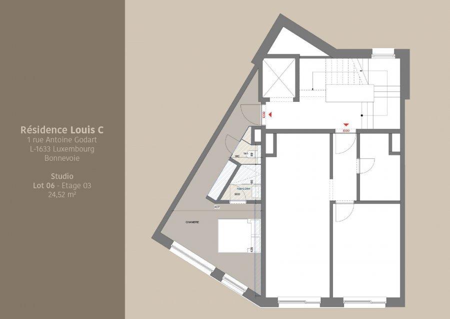 acheter studio 0 chambre 24.52 m² luxembourg photo 3