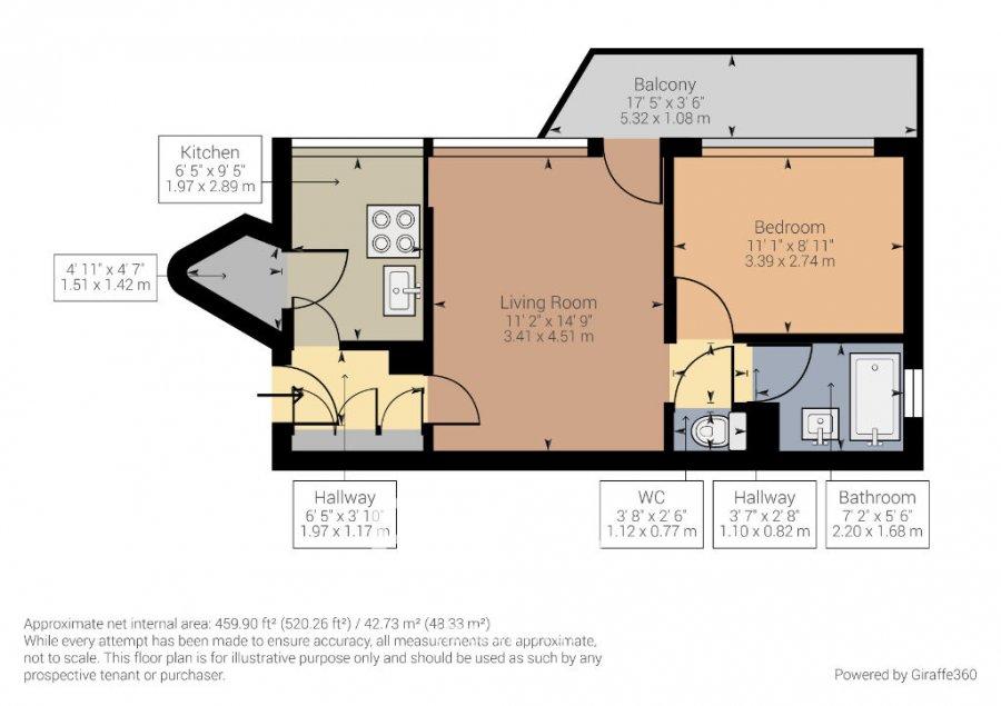 louer appartement 2 pièces 41.7 m² saint-avold photo 7