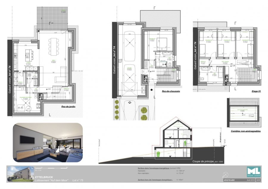 acheter maison jumelée 4 chambres 184 m² ettelbruck photo 4