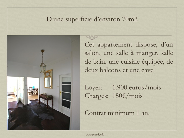 apartment for rent 1 bedroom 70 m² luxembourg photo 2