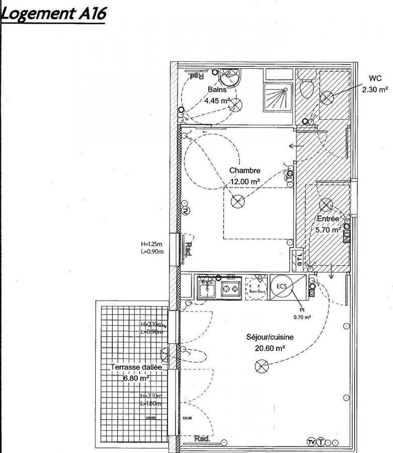 louer appartement 2 pièces 53 m² yutz photo 5
