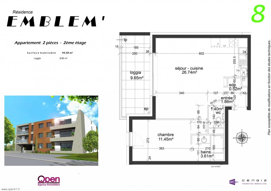 acheter appartement 2 pièces 45.58 m² hettange-grande photo 5