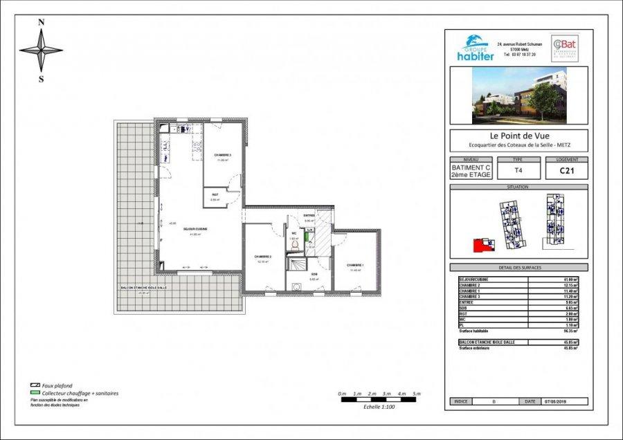 apartment for buy 4 rooms 96 m² metz photo 1