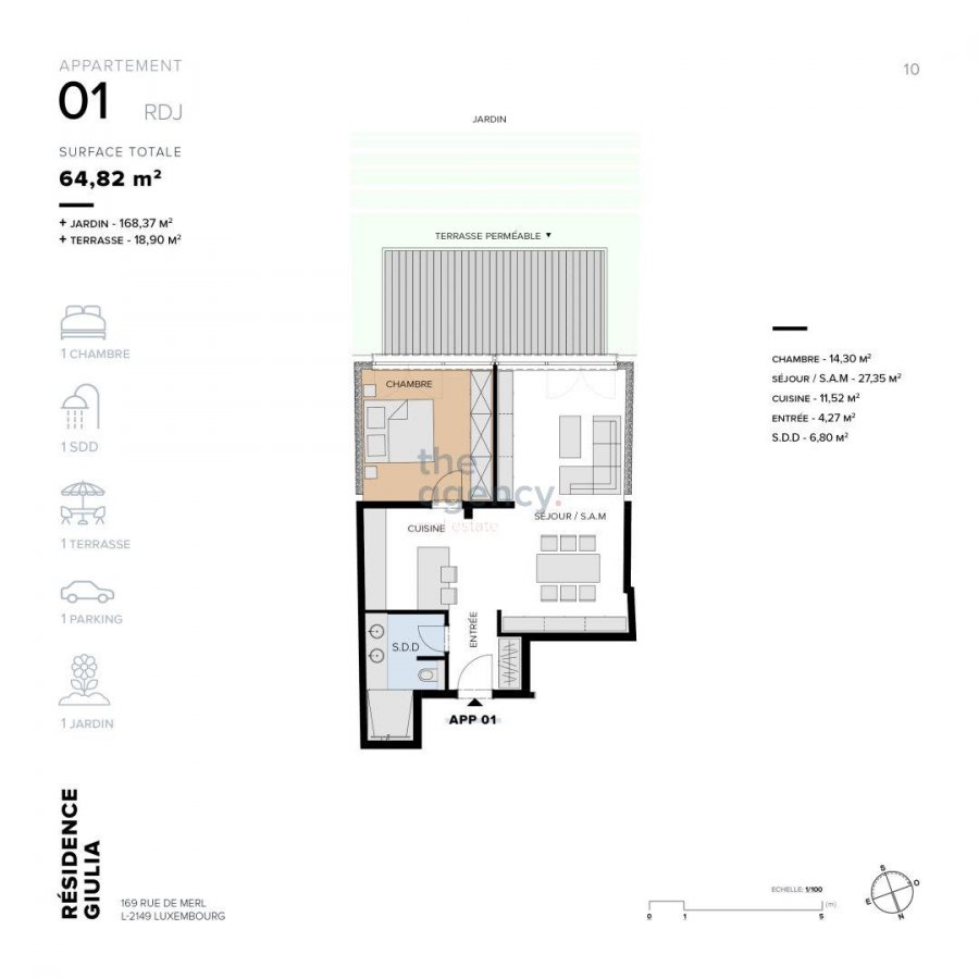 acheter appartement 1 chambre 73.82 m² luxembourg photo 4