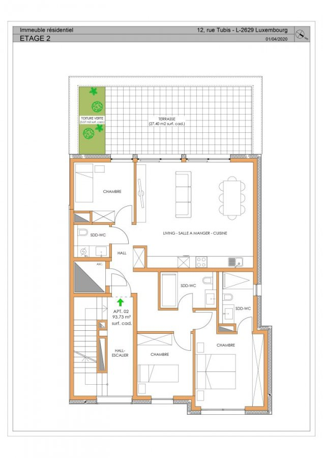apartment for buy 3 bedrooms 104.45 m² luxembourg photo 2