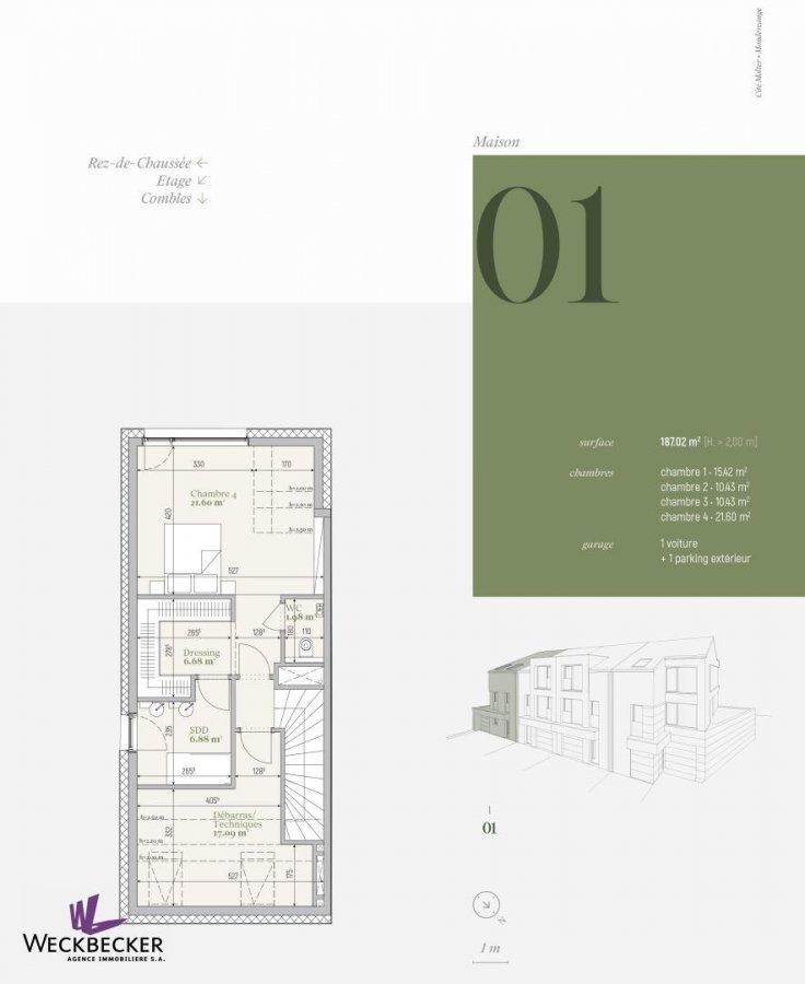 acheter maison jumelée 4 chambres 187.02 m² mondercange photo 2