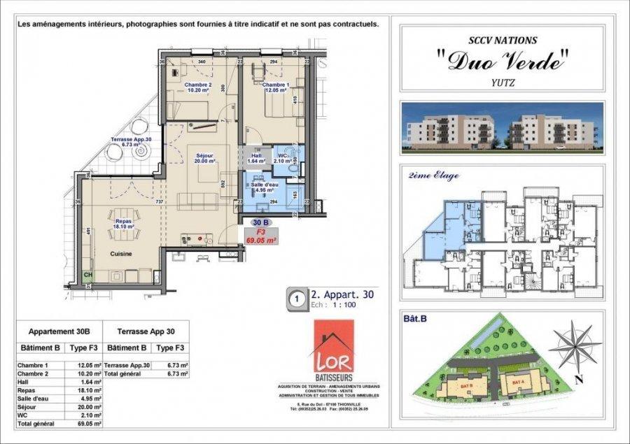 acheter appartement 3 pièces 69.05 m² yutz photo 4