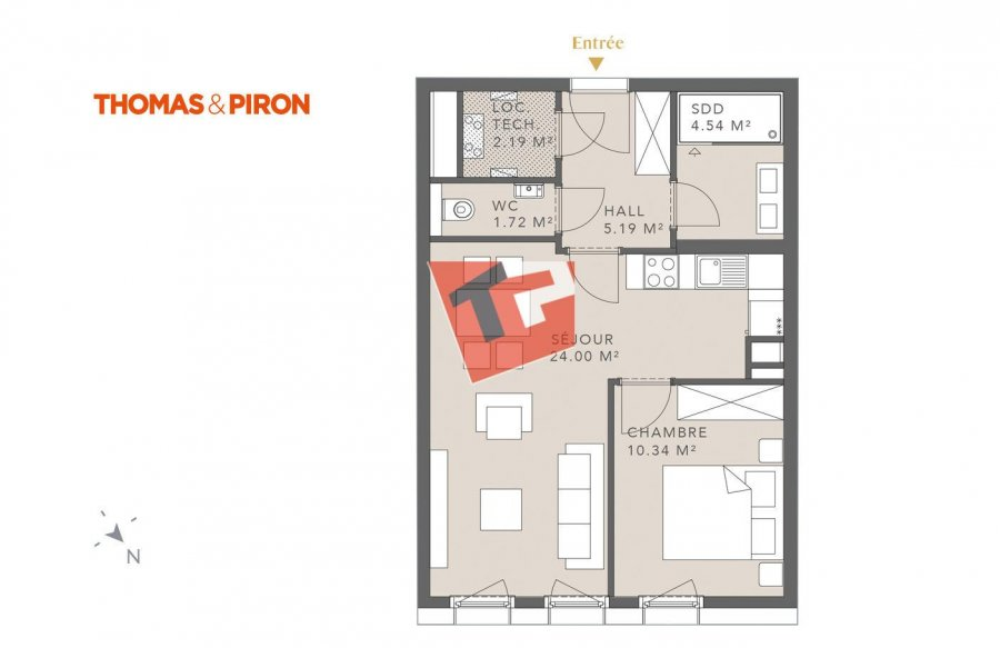 acheter appartement 1 chambre 49.81 m² luxembourg photo 1