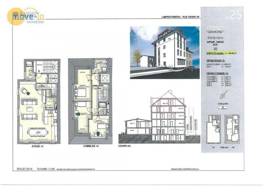 acheter duplex 3 chambres 145 m² luxembourg photo 2