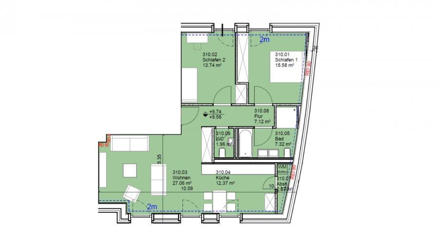 acheter appartement 2 chambres 87 m² echternach photo 2