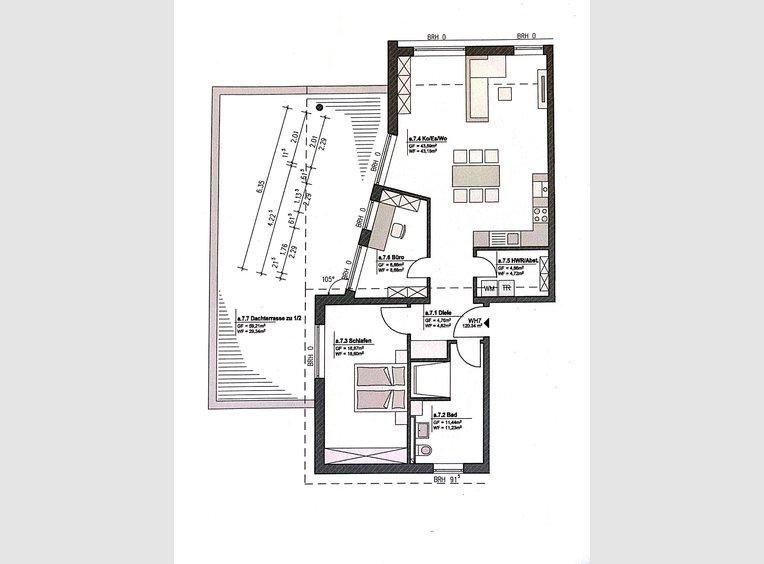 Penthouse à vendre 3 Pièces à Merzkirchen (DE) - Réf. 7227615