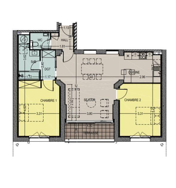 acheter appartement 3 pièces 73 m² marcq-en-baroeul photo 3