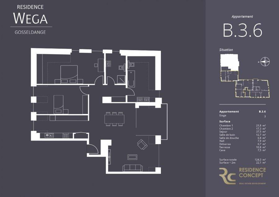 acheter appartement 2 chambres 102.2 m² gosseldange photo 3