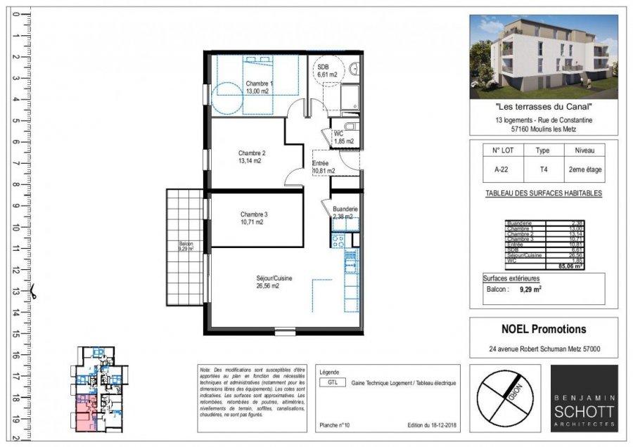 acheter appartement 4 pièces 85 m² moulins-lès-metz photo 1