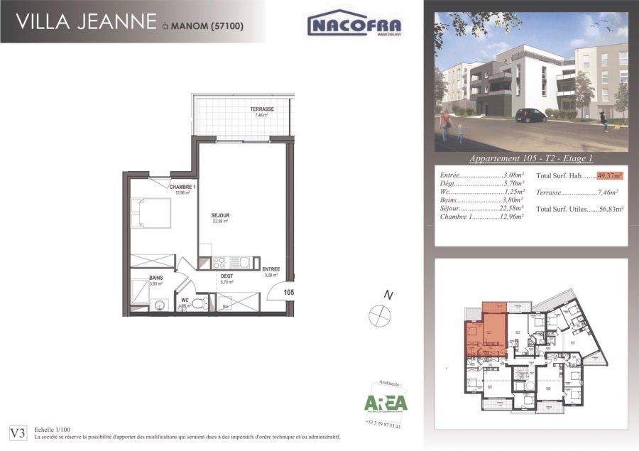 acheter appartement 2 pièces 49 m² manom photo 1