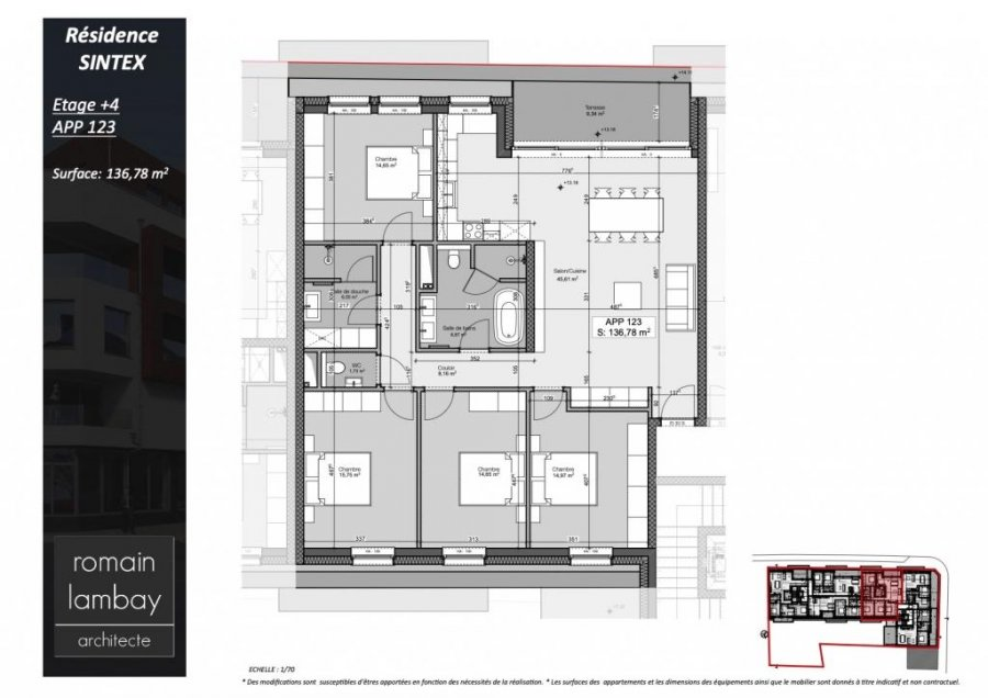 acheter penthouse 4 chambres 140.51 m² luxembourg photo 5