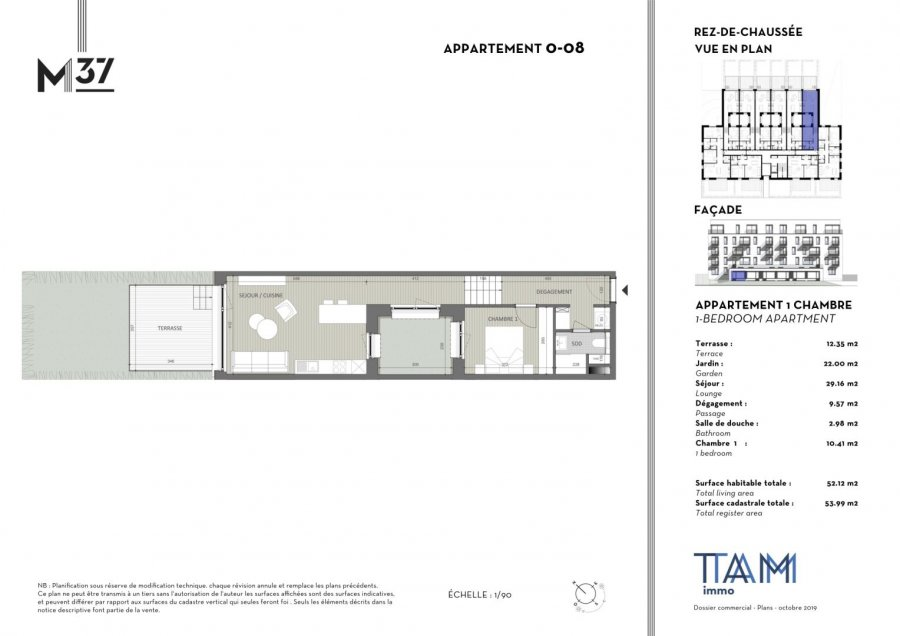 acheter appartement 1 chambre 52.12 m² luxembourg photo 1