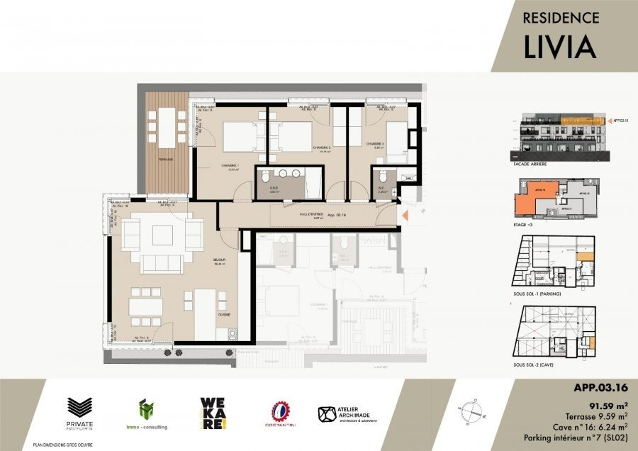 acheter penthouse 3 chambres 95.43 m² luxembourg photo 3