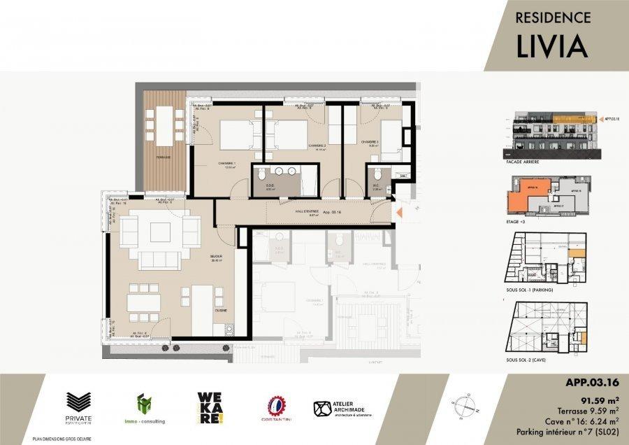 penthouse-wohnung kaufen 3 schlafzimmer 95.43 m² luxembourg foto 3