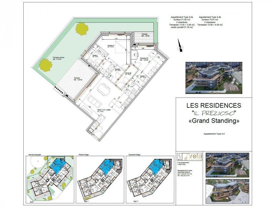acheter appartement 2 chambres 86.81 m² helmsange photo 4