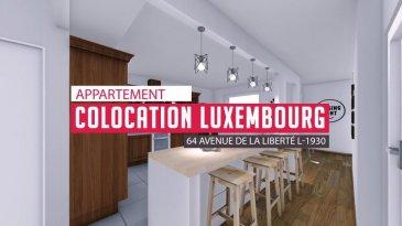 Jean-Marc Estgen et RE/MAX SELECT, vous proposent en exclusivité, 6 chambres en colocation situées 64 Avenue de la Liberté à Luxembourg. Les chambres varient de 13m² à 19m² pour la plus grande et sont meublés. 4 Chambres se partageront 2 salles de bains et 2 Chambres disposent de leur propre salle de bains. 1 Chambre disposera également d'un balcon de 6m² 4 machines à laver sechantes seront à disposition des habitants. Les parties communes disposent d'une grande cuisine ouverte avec 2 réfrigérateurs ainsi qu'un salon détente avec TV. Le prix des locations s'entend avec les charges incluses soit TV, Internet, chauffage et eau. L'immeuble dispose également d'un ascenseur.