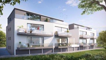 RE/MAX Select, spécialiste de l'immobilier à Lorentzweiler vous propose ce nouveau développement à quelques minutes du centre-ville de Luxembourg Cet appartement comprend deux chambres, cuisine ouverte, un grand balcon de 5,94m². Sont inclus dans le prix une cave de 7,47 m², un emplacement intérieur 20,22 m² et un extérieur 14,90m². Les prix sont indiqués avec TVA 3% sous réserve d'acceptation par l'administration de l'enregistrement.