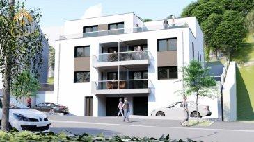 !!! DERNIER APPARTEMENT A VENDRE !!!<br><br>Situé à Diekirch, la future résidence \'ESKADA\' vous propose une petite copropriété de 5 unités.<br><br>Elle vous offrira un cadre vie calme et agréable non-loin du centre, à proximité de tous commerces, banque, école, crèche. <br><br>La ville de Diekirch est surtout connu par la brasserie qui porte de même nom.<br><br>Dotée d\'une classe énergétique A B A, ces appartements vous offrirons des matériaux et des finitions de haut standing tel que (chauffage au sol, triple vitrage, ventilation mécanique double flux à récupération de chaleur, pompe à chaleur, isolations thermiques et phoniques). <br><br>De plus, de nombreuses options vous sont proposées afin de vous épanouir dans votre nouvel habitat.<br><br>Real G Immo vous propose cet appartement de 65,51 m² habitable avec un balcon de 7,47 m² et une terrasse de 37,88 m² au 1er étage:<br><br>Celui-ci se compose comme suit:<br><br>* Un hall d\'entrée, <br>* Living, coin cuisine avec accès et une grande terrasse,<br>* WC séparé,<br>* Salle de bain,<br>* Deux chambres à coucher donnant accès à un balcon,<br>* Une cave privative,<br>* Buanderie, local vélos et local poubelle en commun,<br><br>Possibilité d\'acquérir un emplacement au prix de 18.000.\' TVA 3% .<br><br>Tous les prix annoncés s\'entendent à 3 % TVA, sujet à une autorisation par l\'Administration de l\'Enregistrement et des Domaines.<br><br>Nous sommes disponibles pour vous faire une présentation de l\'appartement et du cahier de charges, n\'hésitez pas à nous contacter 28.66.39-1 ou bien par mail : info@realgimmo.lu. <br />Ref agence :72844