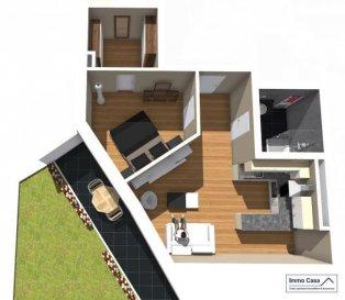 Appartement  au RCH  1 ch. à coucher, 50.25m2, terrasse 10.41, jardin 25.22 m2<br><br>De par son architecture résolument contemporaine elle apporte une touche d'originalité et s'intègre de manière harmonieuse dans l'urbanisation sinueuse de la zone.<br><br>L'orientation de la résidence est «est/ouest», ce qui favorise un éclairage avantageux des parties habitables. De part ce fait, les appartements sont lumineux, fonctionnels et donc agréables à vivre !<br><br>Construite selon les règles de l'art, la résidence « LES ALLIES », associe une qualité de haut standing à une architecture contemporaine hors normes et constitue entre autre, de par sa situation, un excellent investissement. Les études statiques et thermiques, ainsi que les autres équipements techniques, seront confiés à des entreprises spécialisées et expérimentées dans ces domaines. Seules des firmes artisanales luxembourgeoises de premier ordre seront chargées de l'exécution des travaux pour les divers corps de métier.<br><br>De nombreuses options et possibilités de personnalisation sont offertes pour chaque logement, afin de permettre à chacun de définir l'ambiance, les couleurs, ou encore le style qui correspond le mieux à ses envies. Ce programme à l'architecture sobre et à la fois contemporaine offre des prestations de haut standing et cela dans le plus grand respect de l'environnement.<br>N'hésitez pas à nous contacter pour recevoir plans et cahier de charges.<br>Prix TVA   3 %  = 244.748.-<br>Prix TVA  17 % = 268.272.-<br>Emplacement intérieur au prix 29.250.- TTC 17%<br>Garage intérieur au prix de 33.345.- TTC 17%<br><br>Contactez nous pour obtenir plus d'informations.<br><br />Ref agence :TC1905845