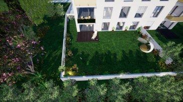 L'agence immobilière SPACEPLUS vous propose le dernier appartement (n.0.3) dans une nouvelle résidence (11 appartements au total) sise dans la Vallée de la Pétrusse. +++++++++ Construction en cours +++++++++++++ Adresse: 67, rue de la Vallée, L-2661 Luxembourg. Un appartement très agréable situé au rez-de- jardin à l'arrière de la résidence. Ce bien se compose d'un hall d'entrée, d'un living avec grandes portes vitrées donnant sur une terrasse et le jardin privatif de 140m2, cuisine ouverte, 1 chambre à coucher, d'une salle de bain (double-lavabo, douche, baignoire et WC) et d'un WC séparé. Il dispose d'une cave privative et d'un emplacement machine à laver/séchoir dans la buanderie commune. Un emplacement intérieur pour 1 voiture. L'immeuble dispose de finitions de haute qualité (parquet dans la chambre à coucher, carrelage de haut niveau dans le hall, la salle de bains et le WC séparé, carrelage ou parquet dans le living au choix de l'acquéreur). Le prix affiché s'entend avec le taux de TVA super-réduit de 3% (en cas d'affectation du bien à des fins d'habitation principale) sous réserve d'acceptation du dossier par l'Administration de l'Enregistrement et des Domaines. Pour toutes informations contactez Natacha BIVORT au 661 33 44 22  Real estate SPACEPLUS present the last apartement no.0.3 for sale in a new building (future construction, 11 apartments in total) located in the Pétrusse Valley. Address: 67, rue de la Vallée, L-2661 Luxembourg. A very pleasant apartment located on the ground floor at the rear of the building. This property consists of an entrance hall, a living room with large glass doors leading to a terrace and the private garden of 140m2, open kitchen, 1 bed rooms, a bathroom bath (double sink, shower, bath and toilet) and a separate toilet. It has a private cellar and a washing machine / dryer location in the common laundry room. An indoor space for 1 car. The building has a high quality finishes (parquet in the bedroom, high level tiling in the 