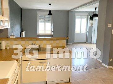 A découvrir en Exclusivité avec 3G Immo Lambermont à Longuyon, vaste maison individuelle pouvant convenir à une grande famille ou à la création de 3 appartements : 2 de 2 chambres (70m² env. chacun) et 1 appartement 1 chambre (50m² environ) ; chaque appartement possède son entrée individuelle.   Au RDC se trouve un appartement habitable, composé de 2 chambres (11,5 et 15m²), d'une cuisine équipée ouverte sur pièce de vie (35m²) avec accès terrasse.  Possibilité de réaliser un autre appartement avec 1 pièce de vie avec cuisine (26m²), 1 chambre 12,5m² et une salle d'eau.  Au dernier étage se trouve un plateau d'environ 70m² (gros œuvre réalisé), avec entrée privative, les cloisons sont prévues pour y aménager une  cuisine ouverte sur pièce de vie (38m²), 2 chambres (15 et 12 m²) et une salle d'eau.   L'implantation actuelle permet de proposer un ensemble immobilier de 3 lots, chaque lot ayant son entrée individuelle, le terrain (pour les 2 appartements) est divisé, le studio possède un petit balcon / terrasse. De quoi partir sur un projet immobilier permettant la réhabilitation de 2 lots en habitant dans l'appartement au RDC.  Au contraire, dans le cas d'une maison individuelle, des transformations intérieures (création d'escalier) permettront d'attribuer différemment les pièces et de bénéficier de plus de 200m² habitables sur un RDC et 2 niveaux.   Terrain clos et entretenu d'environ 3 ares et un verger de 4 ares, avec garage 1 véhicule.  Toiture de 2017 (tuile et ardoise), huisseries en DV PVC 2005 et 2010 (avec velux pour le second étage), chauffage gaz collectif, compteurs électriques, assainissement au tout à l'égout. Reste les finitions (sols, enduits, déco..)  et la pose de cuisine, SDB dans le cas de la réhabilitation en différents lots.  Pour toutes demandes de renseignements et/ou visite, 3G Immo Lambermont : Grégory 06 42 85 79 02  Le prix inclut nos honoraires Pour tous renseignements : Grégory Lambermont : 06.42.85.79.02  François Lambermont : 06.23.51.0