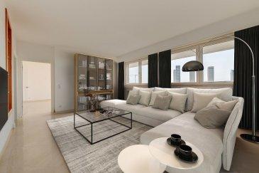 Nous avons le plaisir de vous proposer à la vente un appartement traversant en plein c½ur de Luxembourg-Kirchberg.<br><br>Très lumineux avec ses ouvertures vitrées, doté de vues imprenables sur la Ville Haute de Luxembourg et sur la Vallée de Dommeldange, l\'appartement offre de grands espaces de vie distribués sur 147m2 habitables.<br><br>Déjà en excellentes conditions d\'habitation, l\'appartement s\'adapte aussi au design contemporain, comme le montrent les photos du dossier (photos non contractuelles) qui vous permettront de l\'apprécier davantage dans sa dimension de ?maison de rêve?.<br><br>Il se compose de :<br>-Un grand hall d\'entrée central desservant les espaces de vie ;<br>-Une cuisine ouverte sur la salle à manger avec sortie sur un des balcons exposés sud-ouest ;<br>-Un salon spacieux ;<br>-Deux grandes chambres à coucher, dont une avec possibilité de suite parentale (dressing et salle de bain), et l\'autre avec salle de douche intégrée (les deux avec WC) ;<br>-Un bureau (ou une pièce aménageable à votre gré) ;<br>-Une toilette d\'agrément, une buanderie, un vestiaire.<br><br>Annexes : une grande cave et un emplacement de parking intérieur à 50.000 Euros (possibilité d\'acheter jusqu\'à deux emplacements supplémentaires au besoin).<br><br>Prestations accessoires : porte d\'entrée sécurisée/blindée, vidéophonie, double vitrage, volets électriques, sols refaits à neuf dans les chambres et le bureau.<br><br>Pour plus de renseignements, veuillez contacter l\'agence.<br /><br />Wir freuen uns, Ihnen eine Wohnung im Herzen von Luxemburg-Kirchberg zum Verkauf anzubieten.<br><br>Sehr hell mit glasierten Öffnungen, mit atemberaubenden Ausblicken auf die Haute Ville de Luxembourg und das Tal Dommeldange, bietet die Wohnung große, verteilte Wohnräume auf 147m2 wohnlich.<br><br>Die Wohnung ist bereits in ausgezeichneten Wohnverhältnissen und passt sich auch dem zeitgenössischen Design an, wie die Fotos in der Akte zeigen (nicht vertragliche Fotos), die es Ihnen er