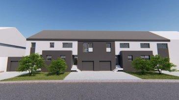 *** Nouveau lotissement  à BETTENDORF ***<br><br>LOT 1: maison en bande sur un terrain de 3.89 ares avec une surface habitable de 216.84m2 + terrasse de 40.17m2, se compose comme suit :<br><br>Situé à Bettendorf, dans une rue très calme, à 6 mn de Diekirch. Il se constitue de 4 maisons d\'une surface totale d\'environ 216 m2 ? 280 m2. Toutes les maisons disposent d\'une grande terrasse et un jardin (avec abri de jardin) :  <br><br>* Rez-de-chaussée : salon avec cuisine ouverte et salle à manger avec accès sur terrasse et jardin, bureau, vestiaire, wc séparée, buanderie et local technique, garage pour deux voitures et deux emplacements extérieurs devant la garage.<br><br>* 1er étage : 3 chambres (dont une parentale avec dressing et accès sur une terrasse de 18m2), une salle de bain et un wc séparée <br><br>* 2ème étage : grenier aménageable, local technique <br><br> Le projet étant encore en phase de construction, diverses modifications peuvent être fait à la demande du client.   Le prix est exprimé à TVA 3%.  Pour plus de renseignements, n\'hésitez pas à nous contacter au 691 850 805.