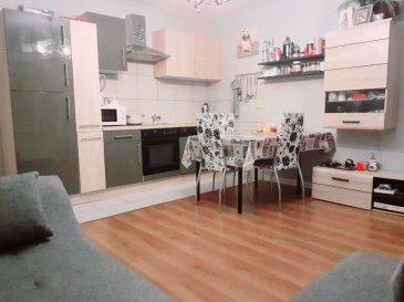BELARDIMMO vous propose à la vente à Soleuvre un appartement avec 2 chambre à coucher.  L'appartement situé au rez-de-chaussée d'une résidence de 12 appartements se compose ainsi :  - hall d'entrée  - cuisine ouverte sur salle de vie  - 2 chambres à coucher ( 14 m²   11 m² )  - salle de bain avec WC (7 m²)  - débarras   L'appartement dispose également d'une cave privative et d'une buanderie commune.   Pour toute information complémentaire veuillez contacter le numéro de portable  352 691152313 Ref agence :AB073
