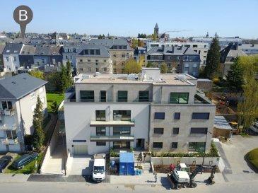 Nouvelle résidence 'SAINTE MARIE II' située 2A Rue Joseph Hansen à Luxembourg-Limpersberg.  Résidence de 14 appartements et 1 penthouse.  Appartements de 1 à 3 chambres - Jardins privatifs - Terrasses - Cave - Parkings intérieurs - Ascenseur.  Classe énergétique BB.  Les prix des parkings sont inclus dans les tarifs indiqués.  De nombreuses options et possibilités de personnalisation de votre appartement sont possibles.  Pour toute information supplémentaire veuillez nous contacter par mail à l'adresse contact@b-immobilier.lu ou par téléphone au numéro 26 44 13 88. Ref agence :5245